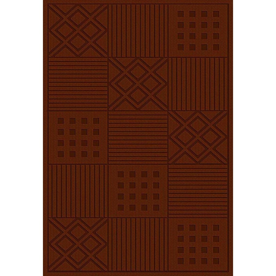 Regence Home Cheshire Rectangular Red Geometric Woven Wool Accent Rug (Common: 2-ft x 4-ft; Actual: 26-in x 43-in)