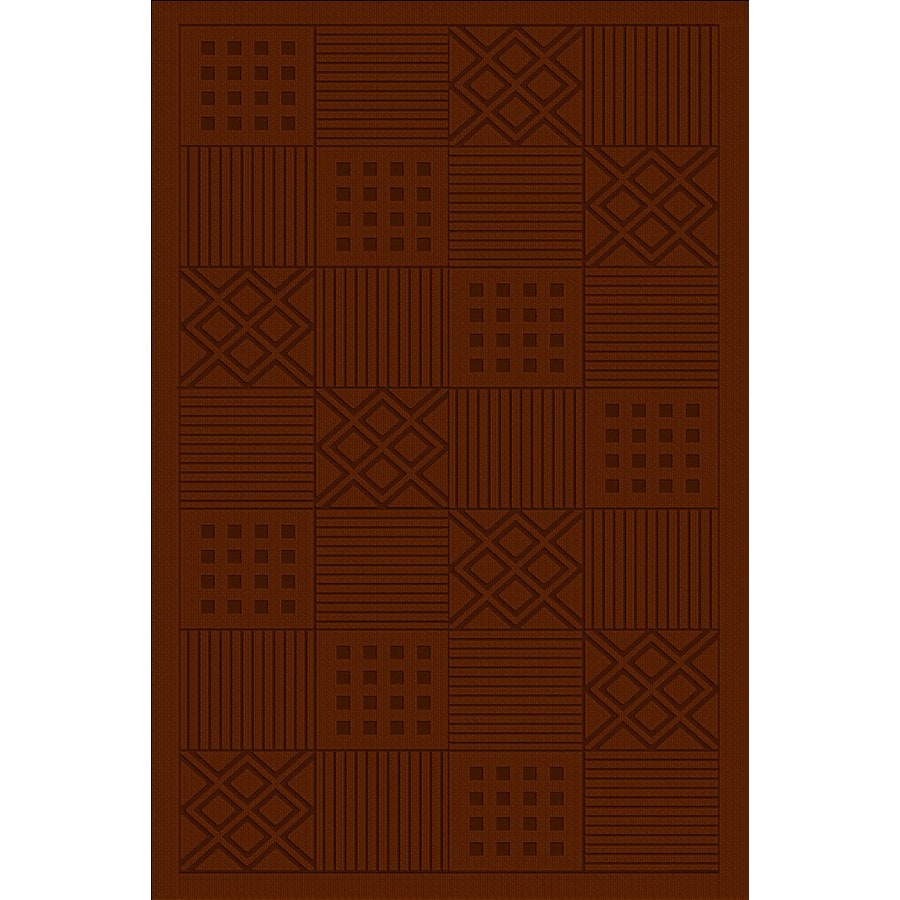Regence Home Cheshire Rectangular Red Geometric Woven Wool Accent Rug (Common: 3-ft x 5-ft; Actual: 36-in x 60-in)