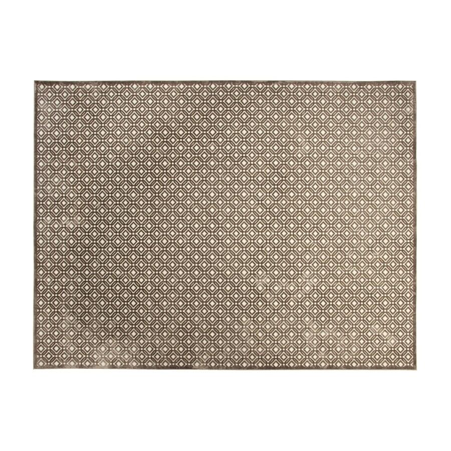 allen + roth Lindstal Cream Rectangular Indoor Machine-Made Area Rug (Common: 8 x 9; Actual: 90-in W x 108-in L)