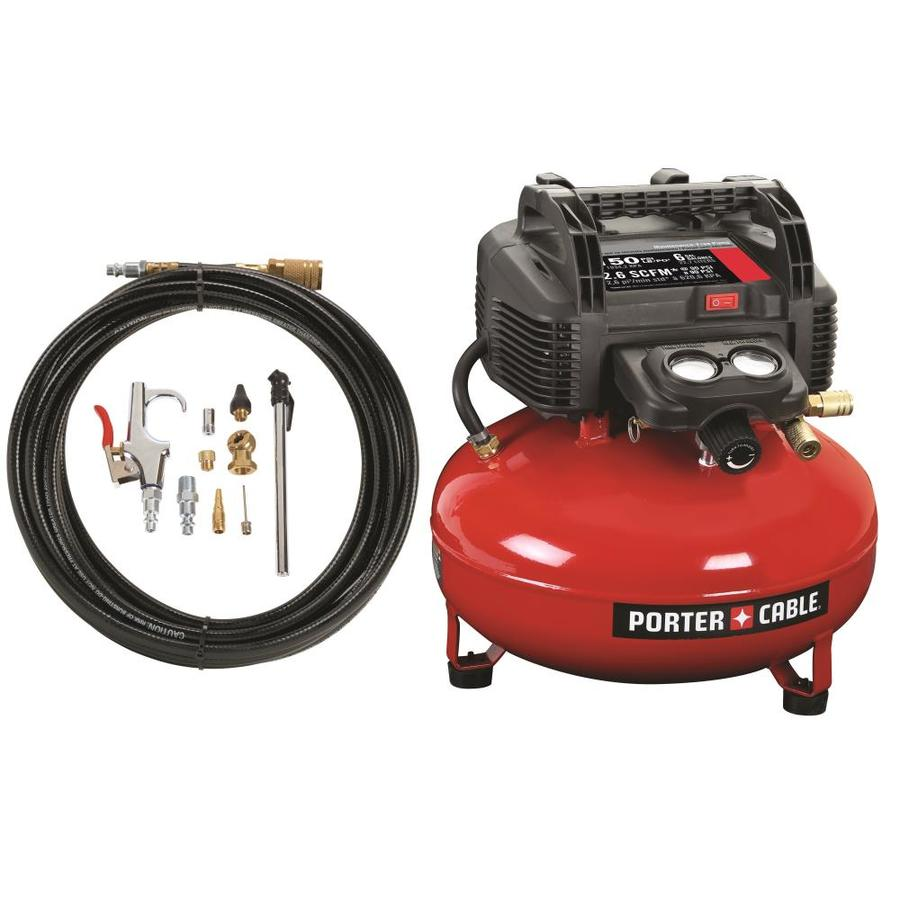 PORTER-CABLE 0.8-HP 6-Gallon 150-PSI 120-Volt Pancake Portable Electric Air Compressor