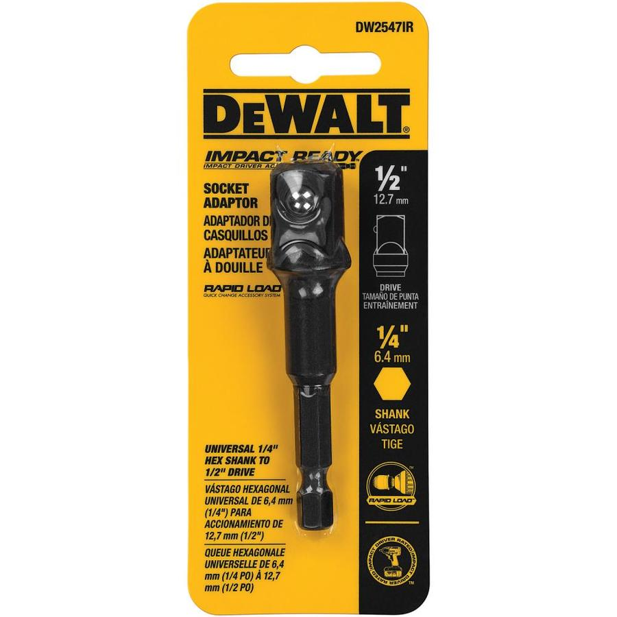 Shop Dewalt 1 4 In To 1 2 In Impact Ready Hex Shank Socket