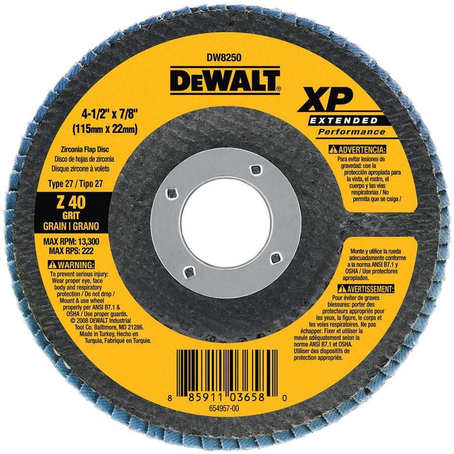 DEWALT 4.5-in W x 4.5-in L 40-Grit Commercial Flap Disc Sandpaper