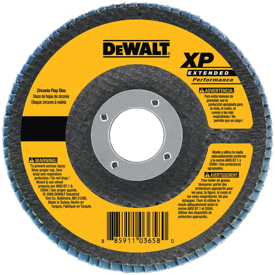 DEWALT 7-in W x 7-in L 60-Grit Commercial Flap Disc Sandpaper
