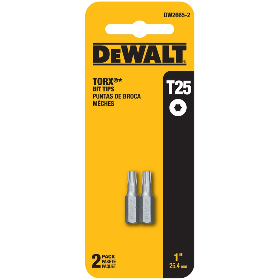 shop dewalt 2 pack 1 in torx screwdriver bits at. Black Bedroom Furniture Sets. Home Design Ideas
