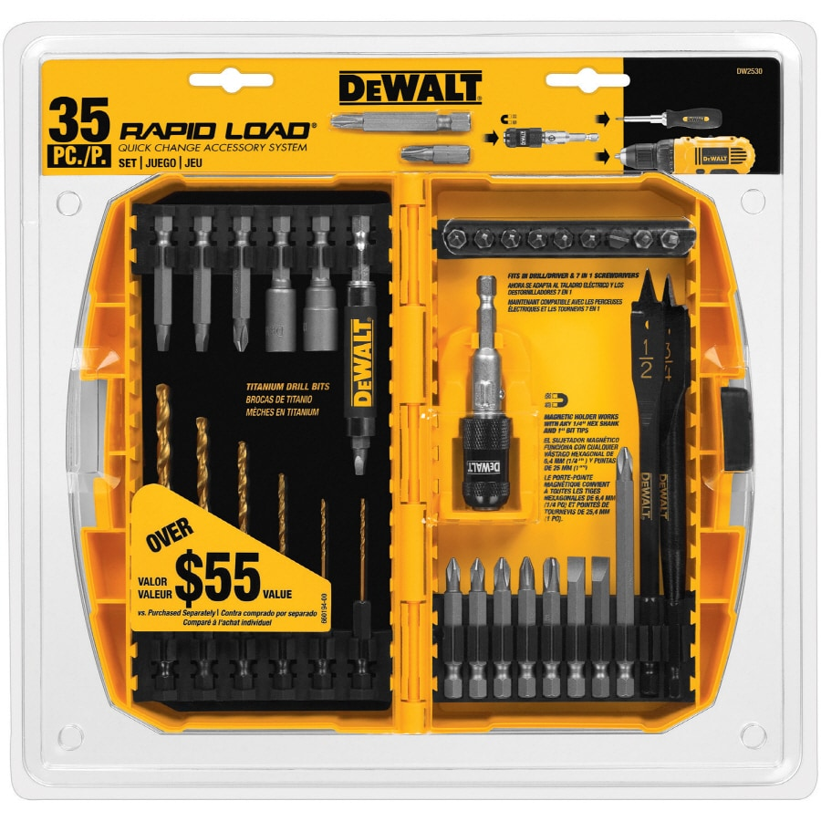 shop dewalt 35 piece screwdriver bit set at. Black Bedroom Furniture Sets. Home Design Ideas