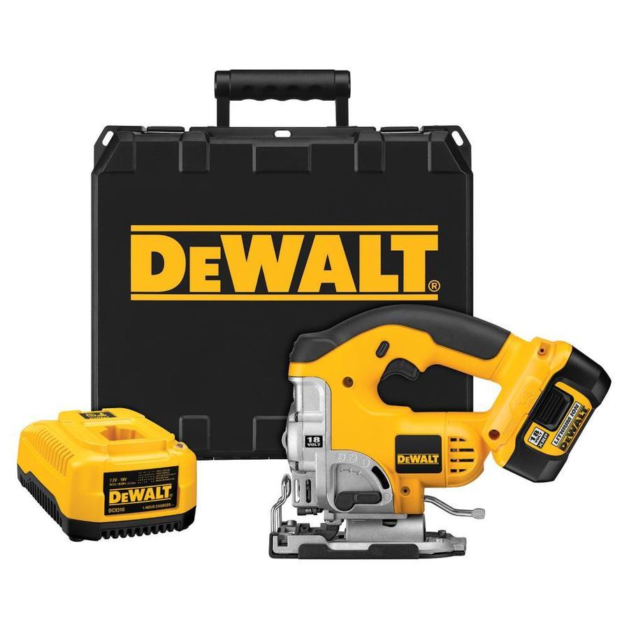 DEWALT 18-Volt Variable Speed Keyless Cordless Jigsaw Battery Included