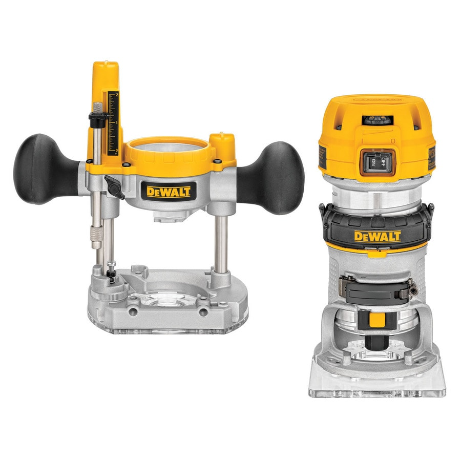 DEWALT 1.25-HP Variable Speed Combo Fixed/Plunge Corded Router