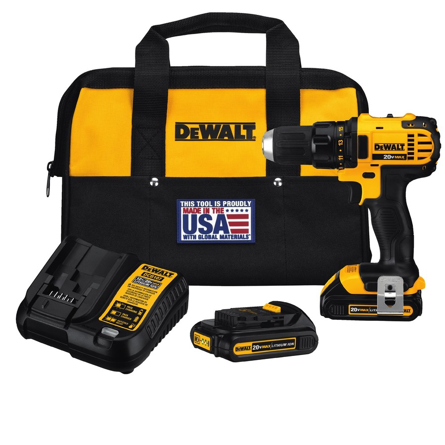 DEWALT 20-Volt Max Lithium Ion (Li-ion) 1/2-in Cordless Drill with Battery and Hard Case