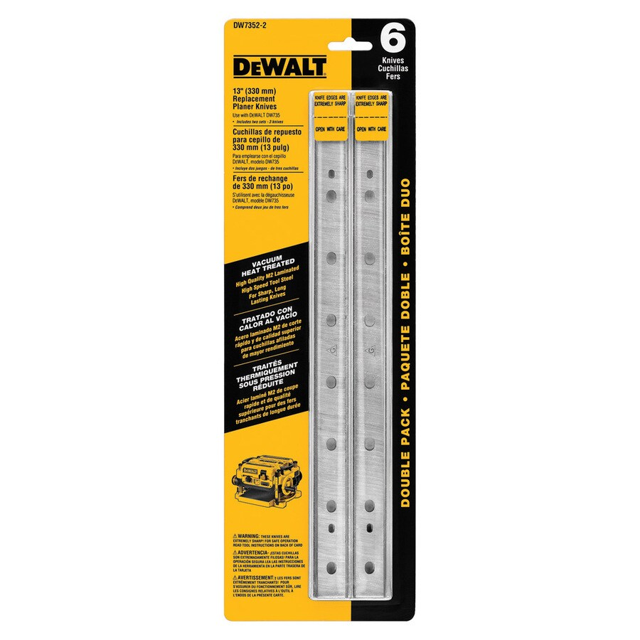 DEWALT Vacuum Heat Treated Double Sided Replacement Planer Knives