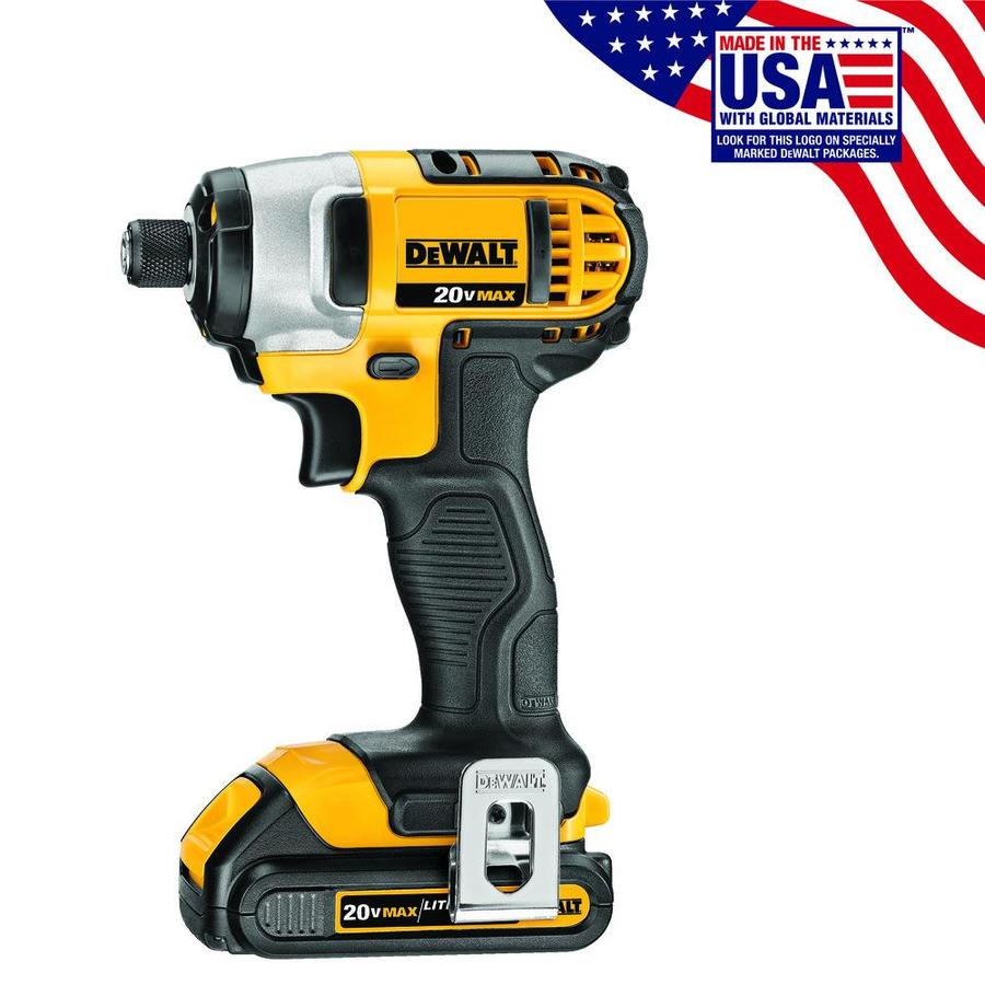 DEWALT 20-Volt Lithium Ion (Li-ion) 1/4-in Cordless Variable Speed Impact Driver with Hard Case