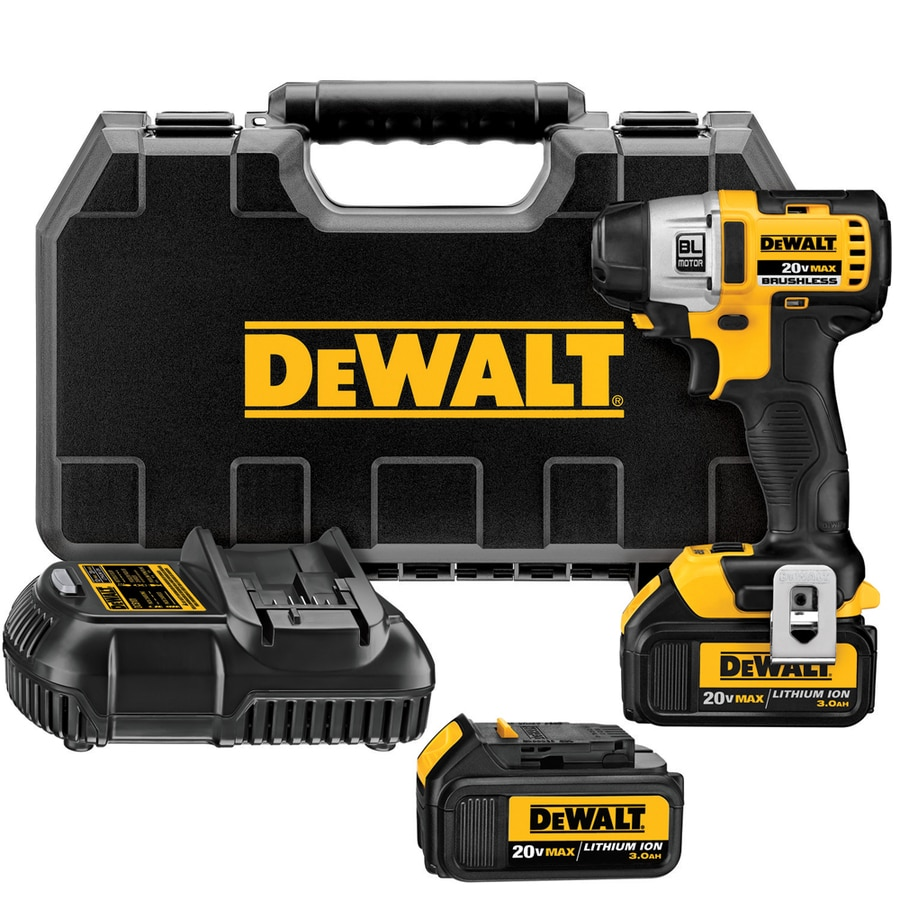 DEWALT 20-Volt 1/4-in Cordless Variable Speed Brushless Impact Driver with Hard Case