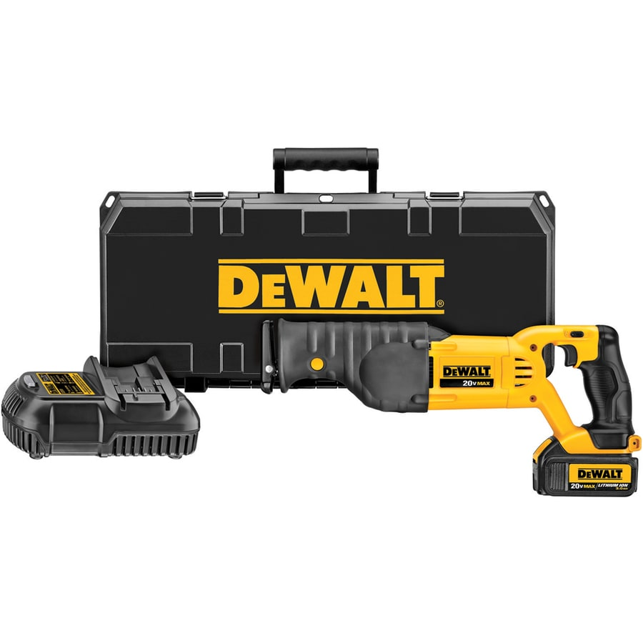 DEWALT 20-Volt Max-Volt Variable Speed Cordless Reciprocating Saw Battery Included