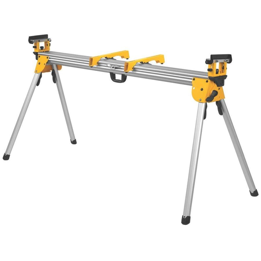 Shop Dewalt Aluminum Adjustable Miter Saw Stand At Lowes Com