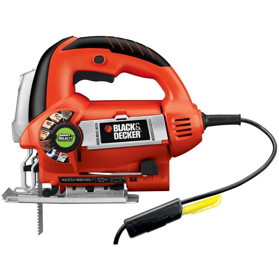 BLACK & DECKER 6-Amp Keyless T or U Shank Variable Speed Corded Jigsaw