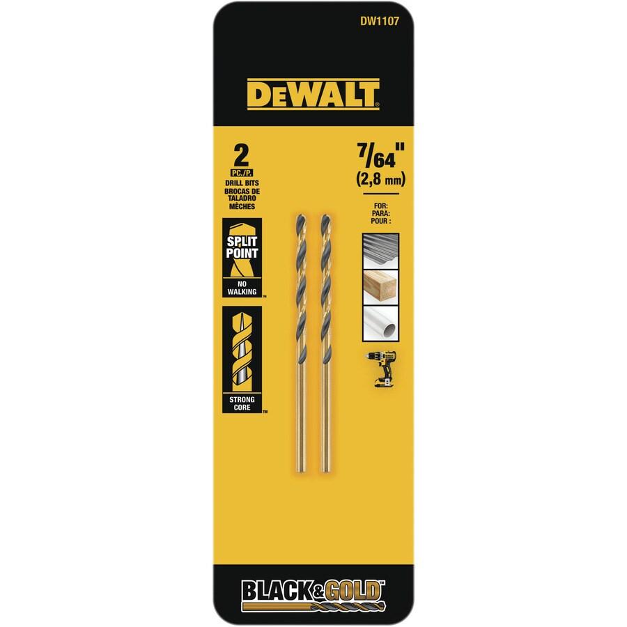 DEWALT 2-Piece 7/64-in Black Oxide Twist Drill Bit