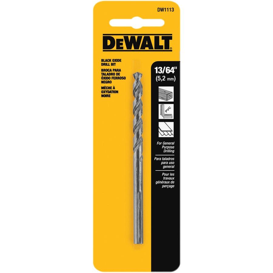 DEWALT 13/64-in Black Oxide Twist Drill Bit