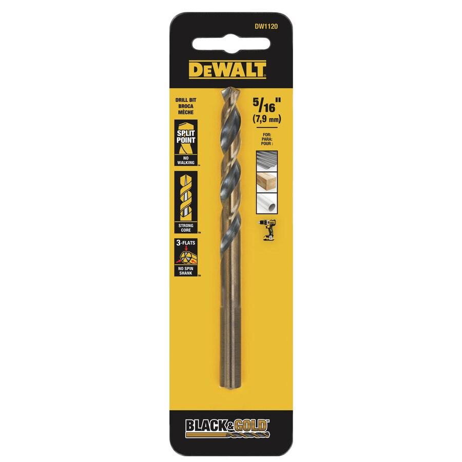 DEWALT 5/16-in Black Oxide Twist Drill Bit