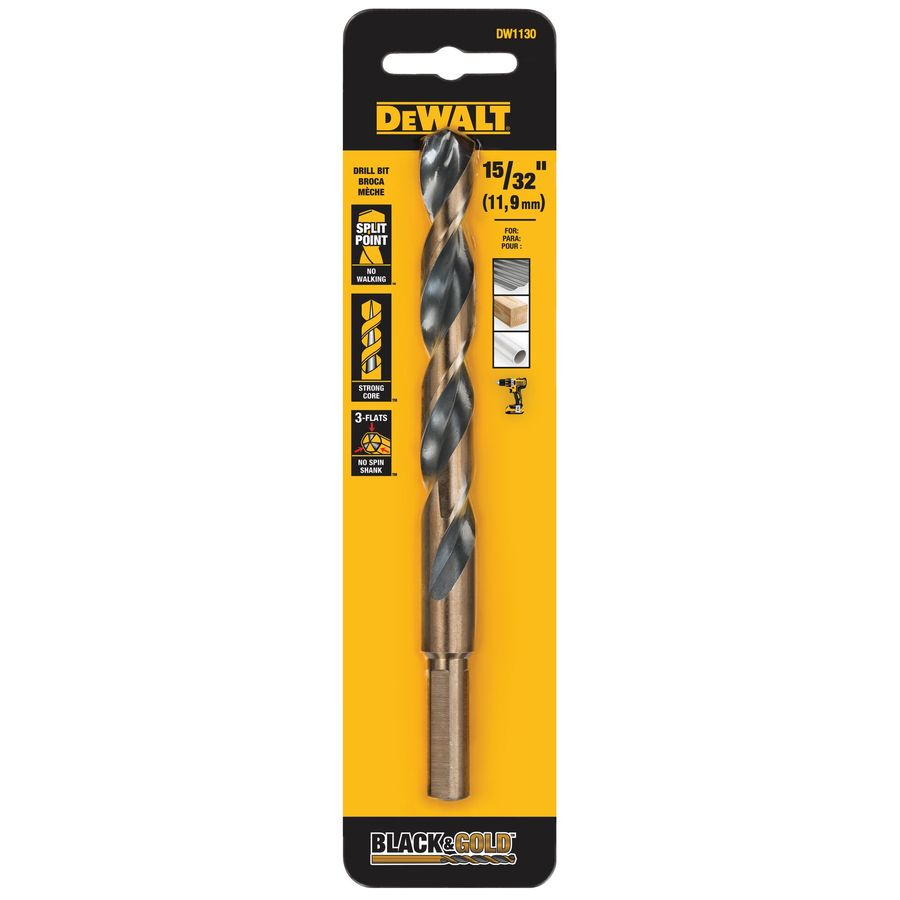 DEWALT 15/32-in Black Oxide Twist Drill Bit