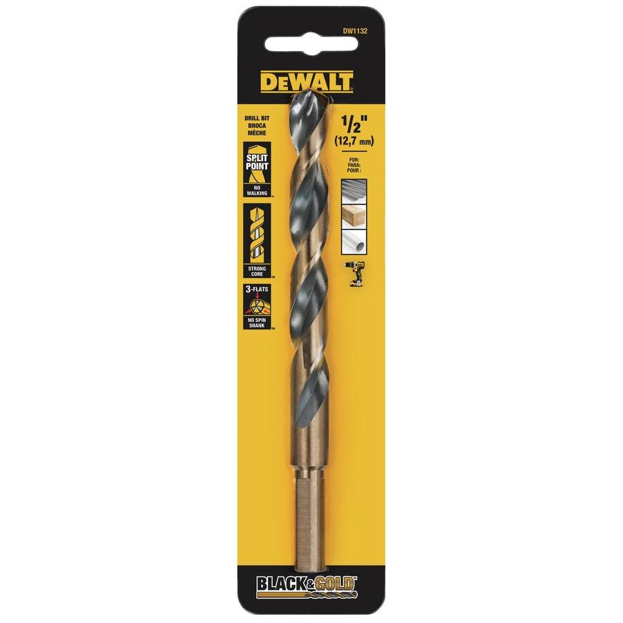 DEWALT 1/2-in Black Oxide Twist Drill Bit