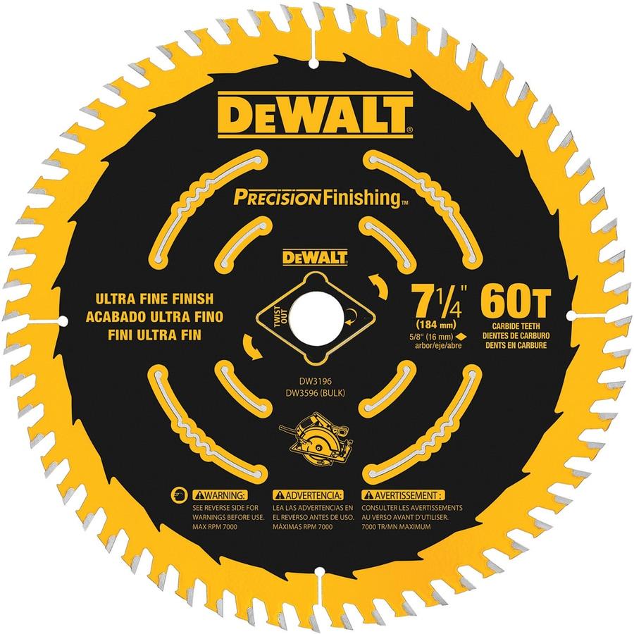 DEWALT Precision Trim 7-1/4-in 60-Tooth Standard Carbide Circular Saw Blade