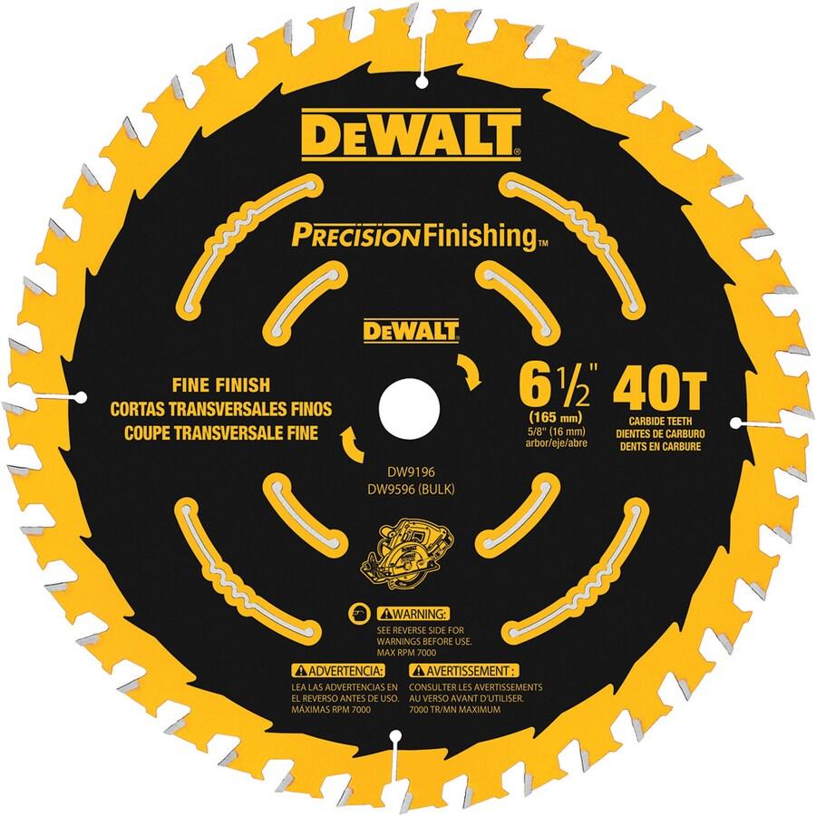 DEWALT Precision Trim 6-1/2-in 40-Tooth Standard Carbide Circular Saw Blade
