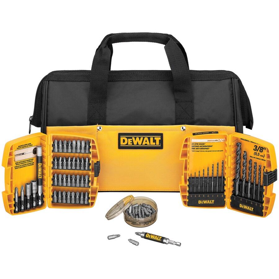 DEWALT 75-Piece Drilling/Screwdriving Set with Bag