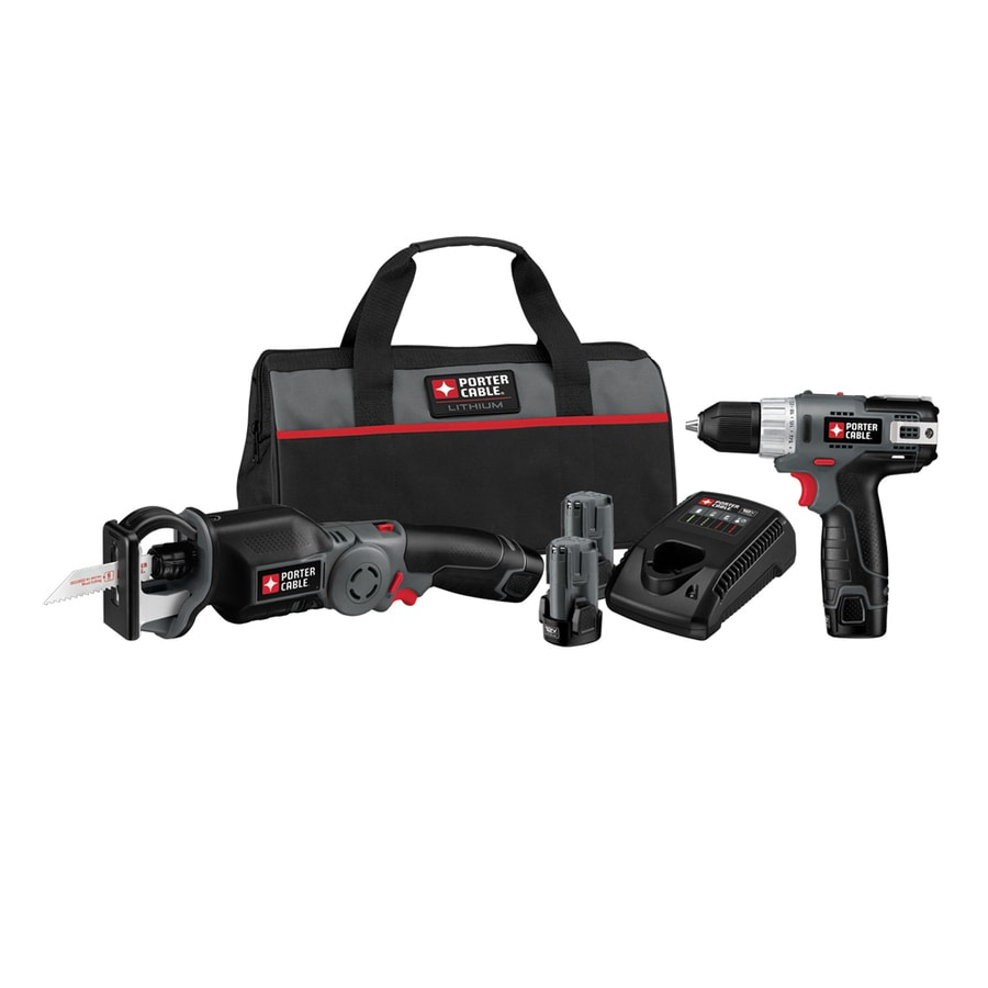 PORTER-CABLE 12-Volt Max Variable Speed Cordless Reciprocating Saw Battery Included