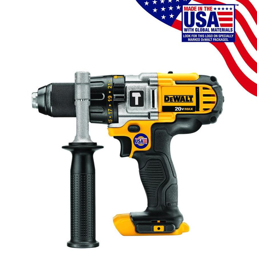 DEWALT Bare Tool 1/2-in 20-Volt Max Variable Speed Cordless Hammer Drill