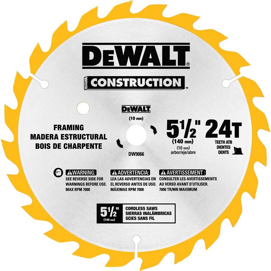 DEWALT Construction 5-1/2-in 24-Tooth Standard Carbide Circular Saw Blade