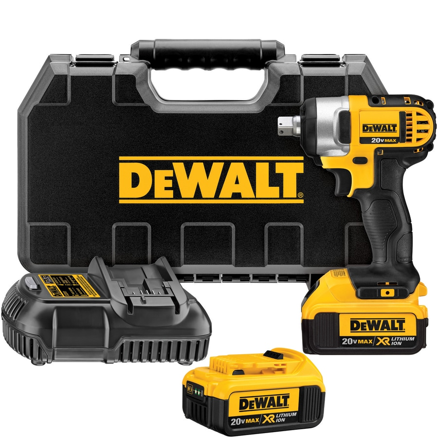 DEWALT 20-Volt Max 1/2-in Square Drive Cordless Impact Wrench