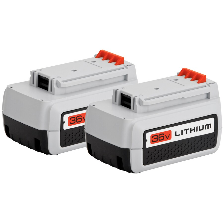 BLACK & DECKER 2-Pack 36-Volt 2.6-Amps Rechargeable Lithium Ion (Li-Ion) Cordless Power Equipment Battery