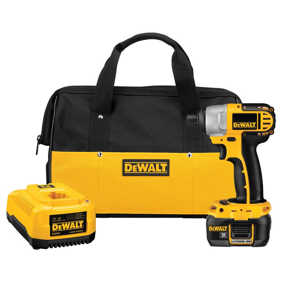 DEWALT 18-Volt Lithium Ion (Li-ion) 1/4-in Cordless Variable Speed Impact Driver with Soft Case