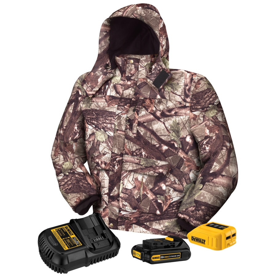 DEWALT Large True Timber Camo Lithium Ion Heated Jacket