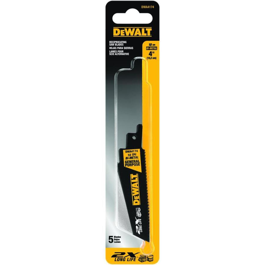 DEWALT 5-Pack High Speed Steel Reciprocating Saw Blade Set