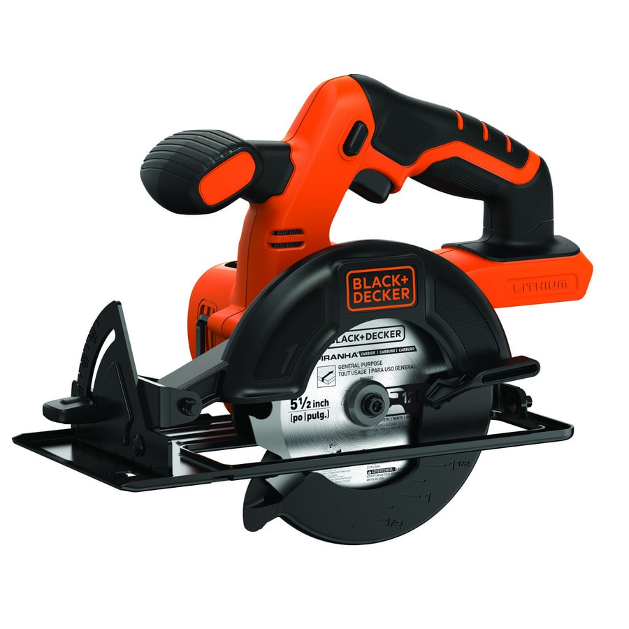 BLACK & DECKER 20-Volt 5-1/2-in Cordless Circular Saw (Bare Tool)