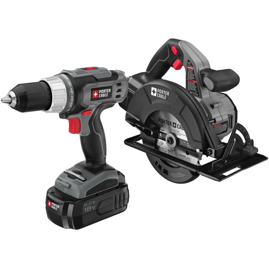 PORTER-CABLE 2-Tool 18-Volt Nickel Cadmium (NiCd) Cordless Combo Kit