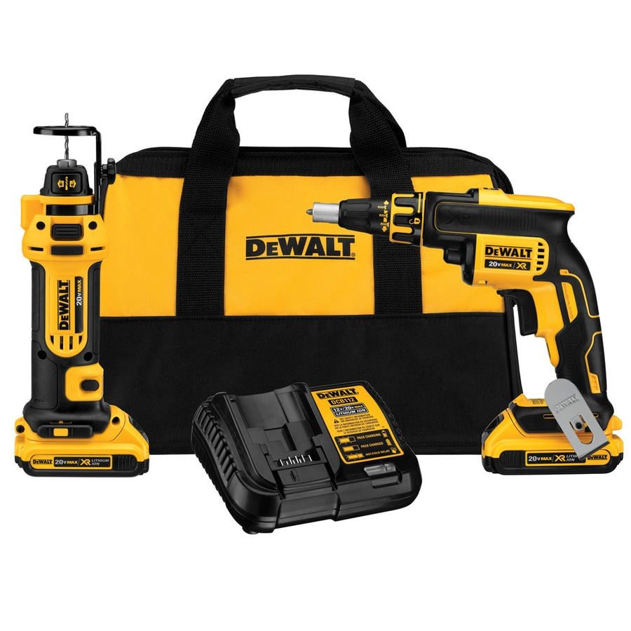 DEWALT 20-Volt Max Lithium Ion (Li-ion) Cordless Combo Kit with Soft Case