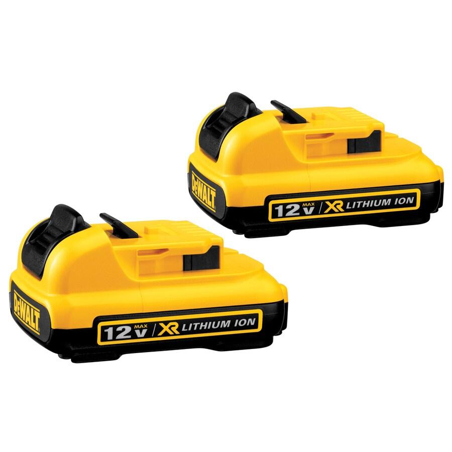 DEWALT 2-Pack 12-Volt Max-Volt 2.0-Amp Hours Lithium Power Tool Battery