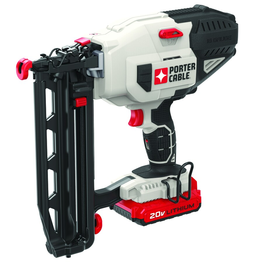 PORTER-CABLE 16-Guage 20-Volt Finishing Cordless Nailer with Battery