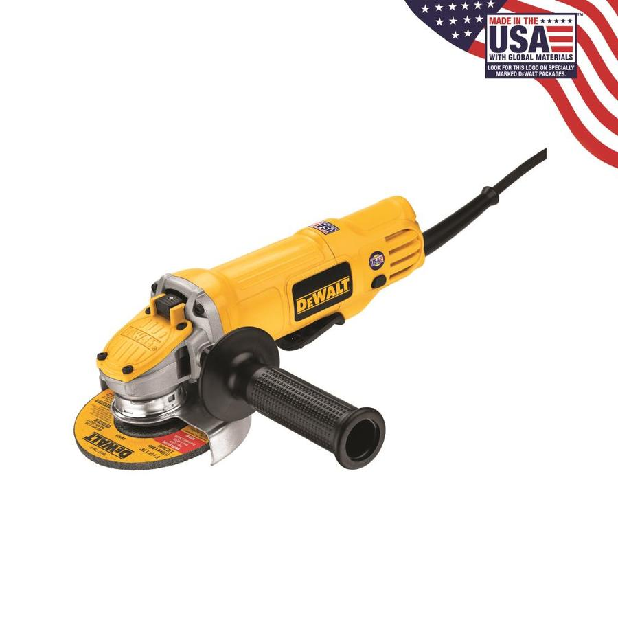 DEWALT 4-1/2-in 9 Amps Paddle Switch Corded Angle Grinder