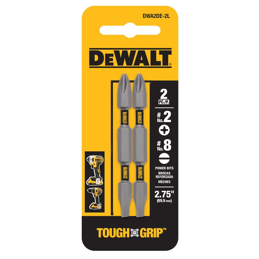 DEWALT 2-Pack 2-in Phillips/Slotted Screwdriver Bits