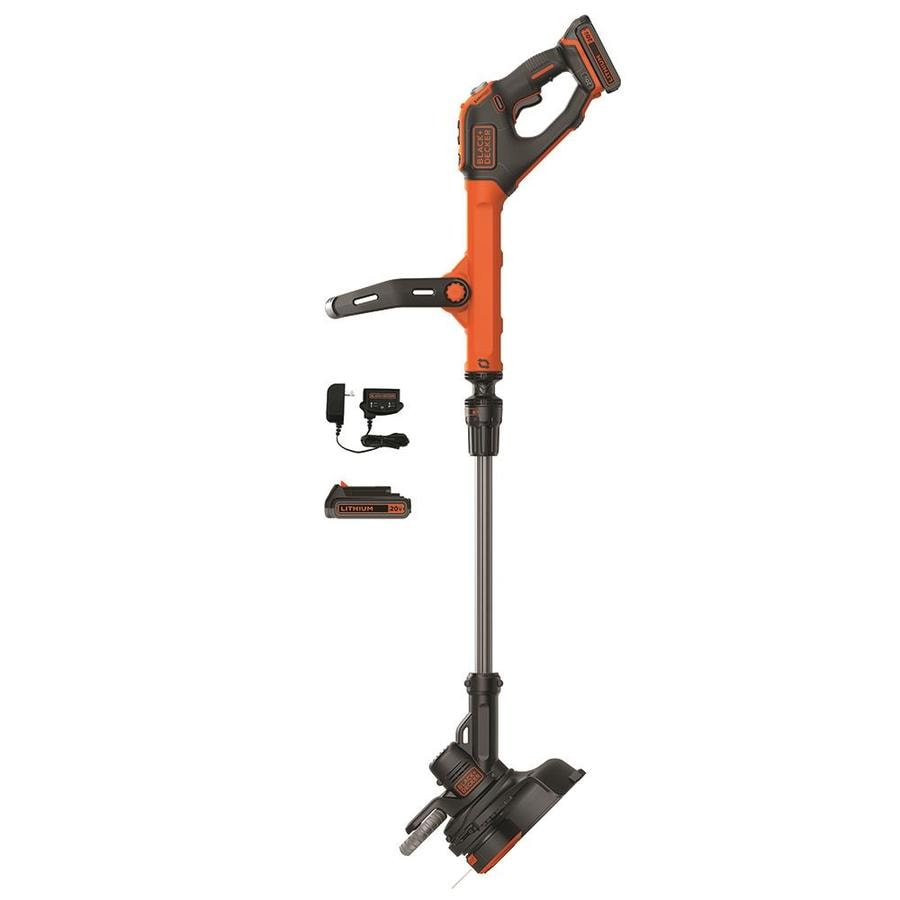 Black And Decker Electric Weed Eater >> Shop BLACK & DECKER EASYFEED 20-Volt Max 12-in Straight Cordless String Trimmer and Edger at ...