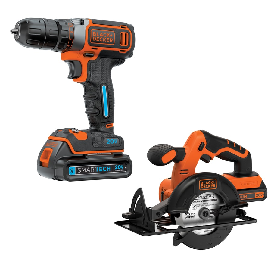 BLACK & DECKER Smartech 20-Volt Max Lithium Ion (Li-ion) Cordless Combo Kit