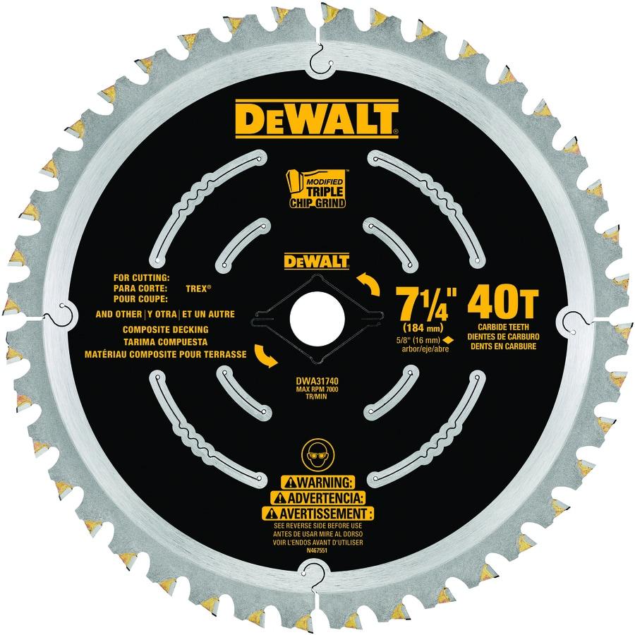 DEWALT 7-1/4-in 40-Tooth Dry Standard Carbide Circular Saw Blade