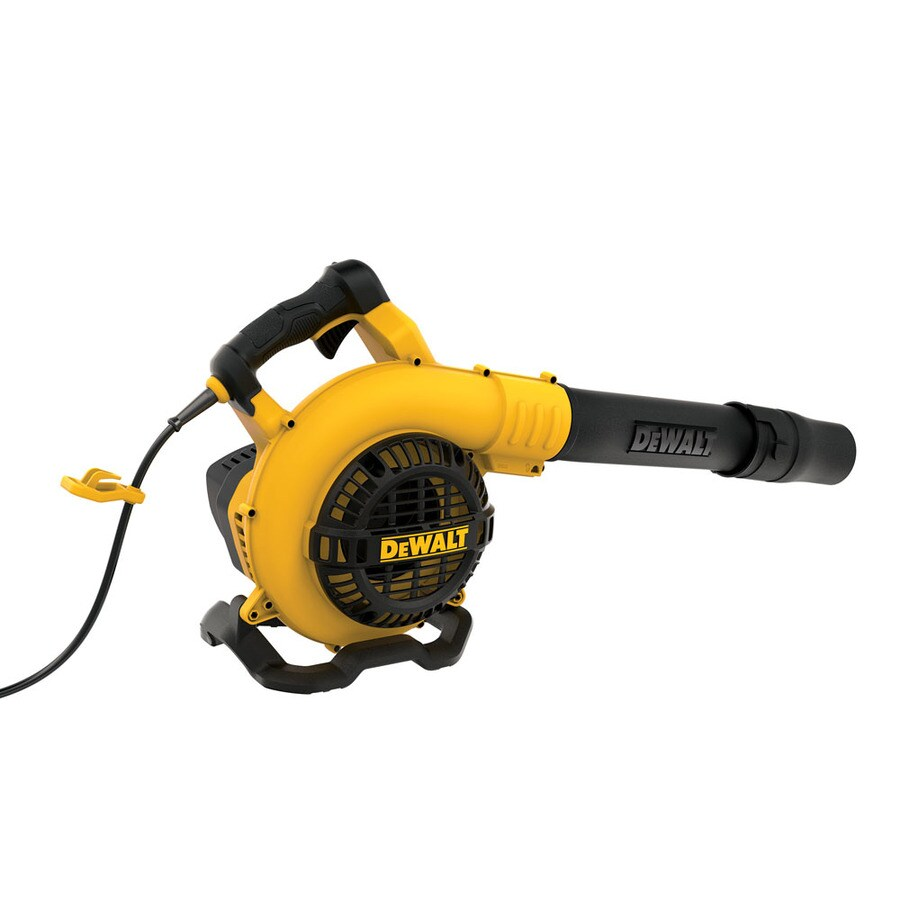Corded Electric Leaf Blower : Shop dewalt amp cfm mph professional corded