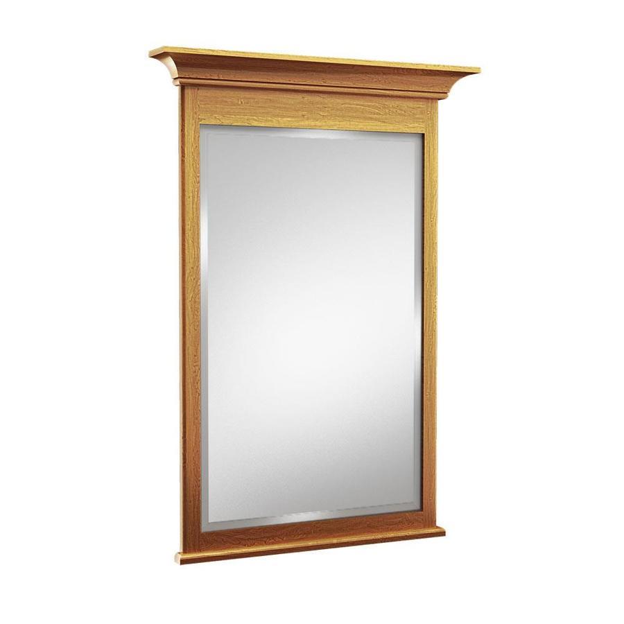 KraftMaid 24-in W x 36-in H Praline Rectangular Bathroom Mirror
