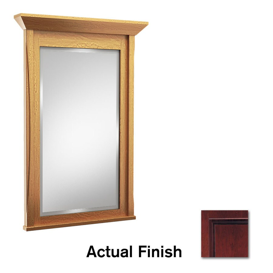 KraftMaid 30-in W x 36-in H Cabernet Rectangular Bathroom Mirror