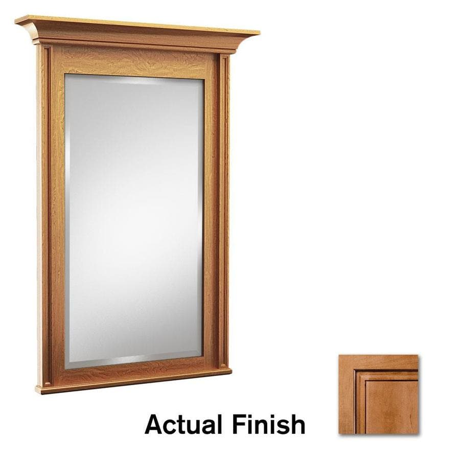 KraftMaid 30-in W x 36-in H Ginger with Sable Glaze Rectangular Bathroom Mirror