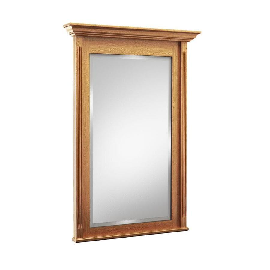 KraftMaid 42-in W x 36-in H Praline Rectangular Bathroom Mirror