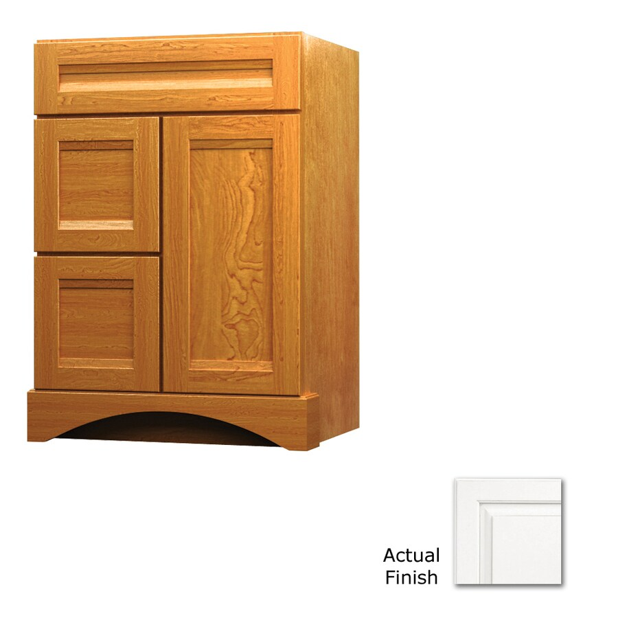 KraftMaid Summerfield Sonata Dove White Casual Bathroom Vanity (Common: 24-in x 21-in; Actual: 24-in x 21-in)